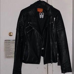 Joe Fresh black faux leather jacket